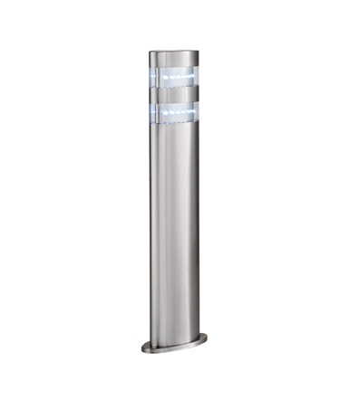 Searchlight Led Outdoor Post Light - Satin Silver - Oval - 45Cm