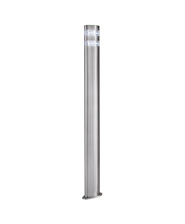 Searchlight Led Outdoor Post Light - Satin Silver - Oval - 90Cm