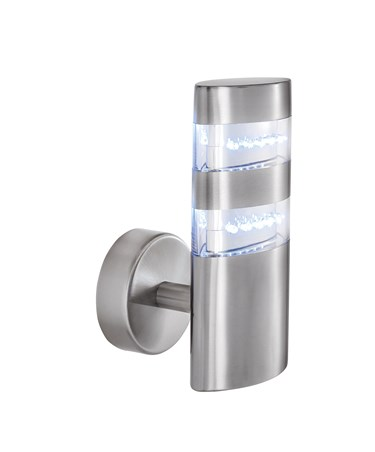 Searchlight Led Outdoor Wall Light - Satin Silver - Oval - 24 Led'S