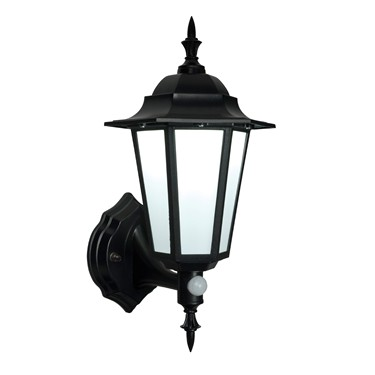 Endon Evesham LED PIR Traditional Outdoor Wall Light - Matt Black - IP44