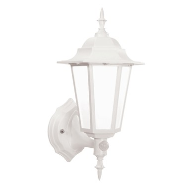 Endon Evesham LED PIR Traditional Outdoor Wall Light - Matt White - IP44