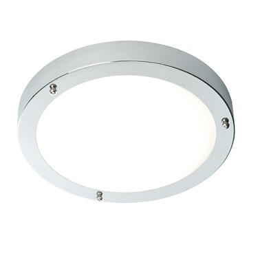 Endon Portico LED Bathroom Ceiling Light - Natural White & Chrome Plate