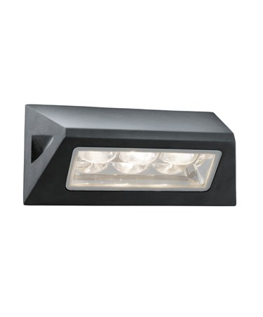 Searchlight Led Outdoor Wall Light - Black - Oblong - White Led