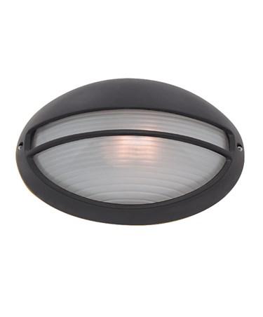 Searchlight Outdoor & Porch Black Oval Bulkhead Light - 60W