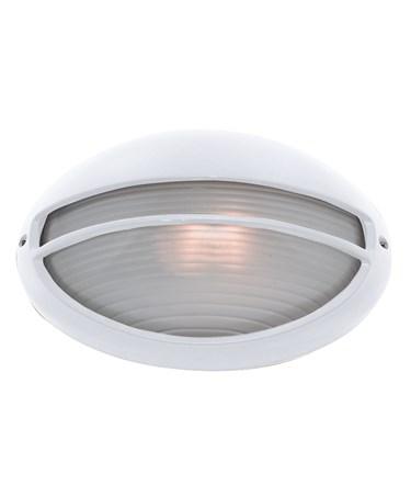 Searchlight Outdoor & Porch White Oval Bulkhead Light - 60W