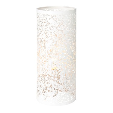 Endon Secret Garden Patterned Table Lamp - Matt Ivory