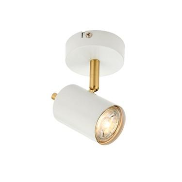 Endon Gull Single LED Spotlight -Adjustable - White & Gold