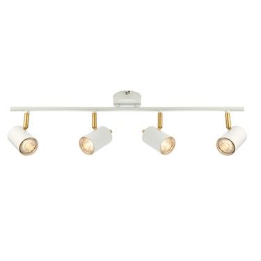 Endon Gull 4 Light Bar LED Spotlight -Adjustable - White & Gold