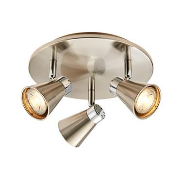 Endon Hyde Triple Spotlight - Adjustable - Satin Nickel