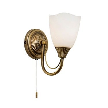 Endon Haughton Wall Light - Antique Brass