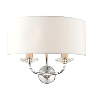 Endon Nixon Wall Light - 2 Light - Silk Shade