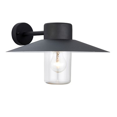 Endon Fenwick Outdoor Wall Light - Textured Black - IP44