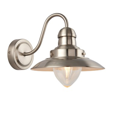 Endon Mendip Wall Light - Satin Nickel