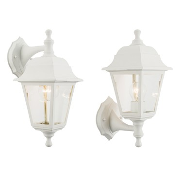 Endon Pimlico Traditional 60W Outdoor Wall Light - White - IP44