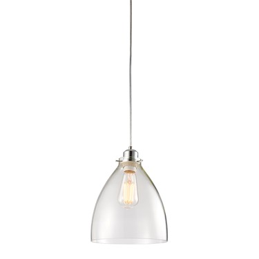 Endon Elstow Non Electric Pendant - Clear Glass