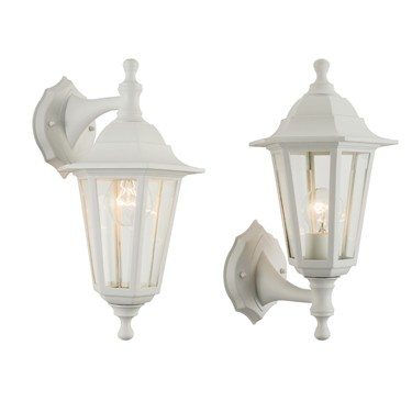 Endon Bayswater Traditional Outdoor Wall Light - White - IP44