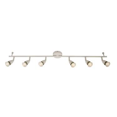 Endon Amalfi 6 Light Bar Spotlight - Adjustable - Gloss White