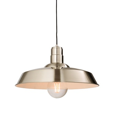 Endon Moore Pendant Ceiling Light - Nickel Plate