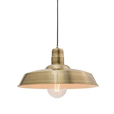 Endon Moore Pendant Ceiling Light - Antique Brass Plate