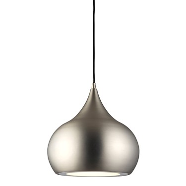 Endon Brosnan Pendant Ceiling Light - Nickel Plate