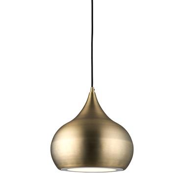 Endon Brosnan Pendant Ceiling Light - Antique Brass