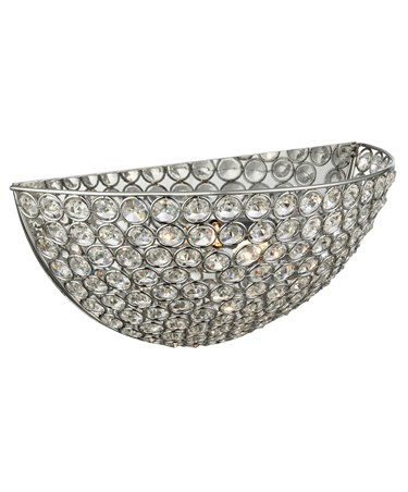 Searchlight Chantilly Wall Uplighter - Chrome - Crystal