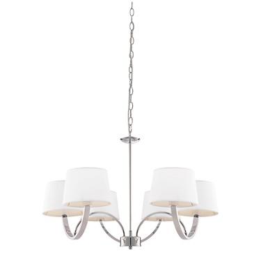 Endon Macy Ceiling Pendant - Chrome & White - 6 Light