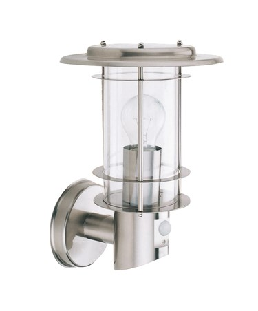 Searchlight Outdoor & Porch Wall Light - Stainless Steel - Motion Sensor