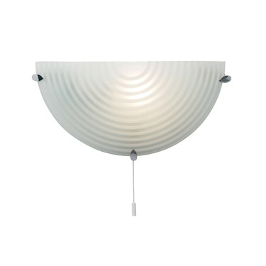 Endon Roundel Wall Light - Frosted & Clear Glass
