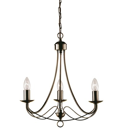 Searchlight Maypole 3 Light Ceiling Fitting - Antique Brass - Multi Arm