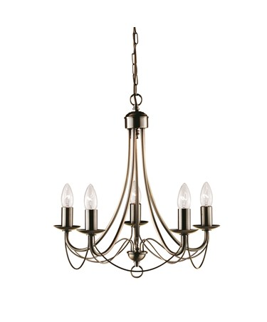 Searchlight Maypole  5  Light Ceiling Fitting - Antique Brass