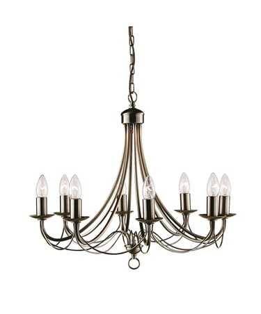 Searchlight Maypole  8  Light Ceiling Fitting - Antique Brass