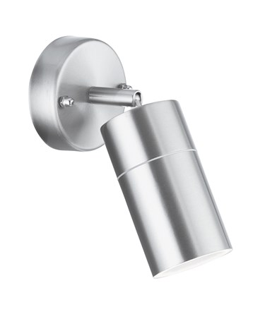 Searchlight Outdoor & Porch Directional Wall Light - Stainless Steel - Ip44