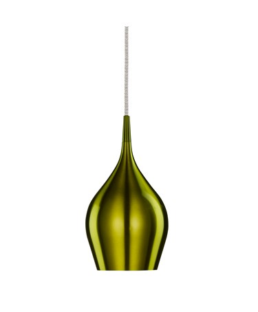 Searchlight Vibrant Bell Shaped Pendant Light - Green