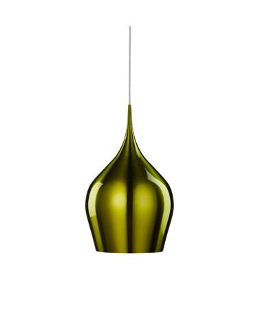 Searchlight Vibrant Bell Shaped Pendant Light - Green - Large