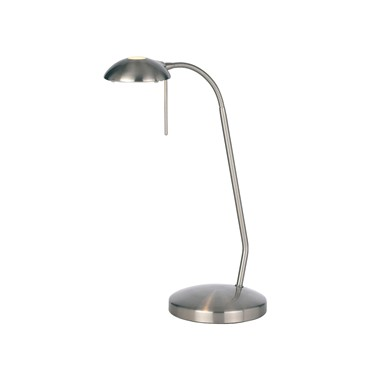 Endon Hackney Touch Table Lamp - Satin Nickel - Dimmable