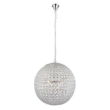 Endon Miley Crystal Globe Pendant - K9 Crystal Beads & Chrome