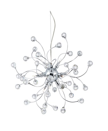 Searchlight Sonja 12 Light Ceiling Pendant - Chrome With Crystal Ball Decoration