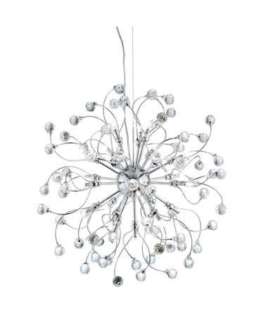 Searchlight Sonja 24 Light Ceiling Pendant - Chrome With Crystal Ball Decoration