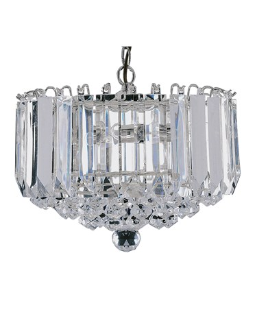 Searchlight Sigma Ceiling 4 Light Pendant - Chrome - Clear Crystal Balls
