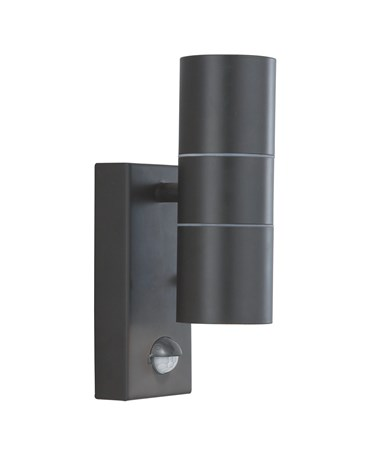 Searchlight Outdoor & Porch Up & Down Wall Light - Black - Motion Sensor