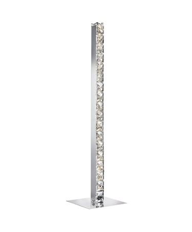 Searchlight Clover Led Column Table Lamp - Chrome - Clear Crystal - 50Cm