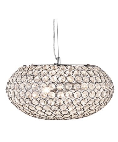 Searchlight Chantilly Ceiling Pendant 3 Light - Chrome - Crystal Buttons Inserts