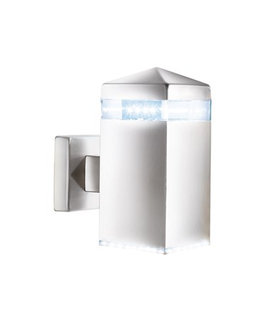 Searchlight Led Outdoor Wall Light - Satin Silver - Square - 32 Led'S