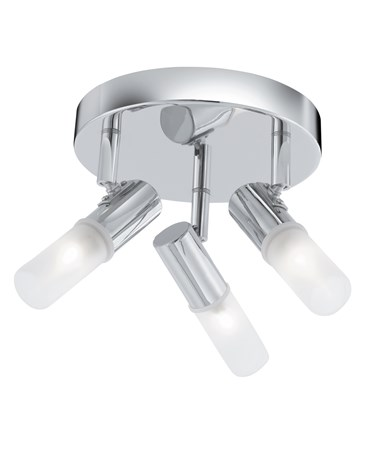 Searchlight Mars 3 Spotlight Round Ceiling Light - Frosted Glass - Ip44
