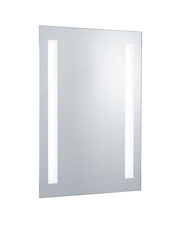 Searchlight Bathroom Mirror - 2 Light - Touch Sensor - Shaver Socket - Ip44