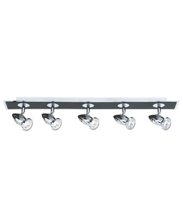 Searchlight Comet Ceiling 5 Spotlight Bar - Chrome & Black