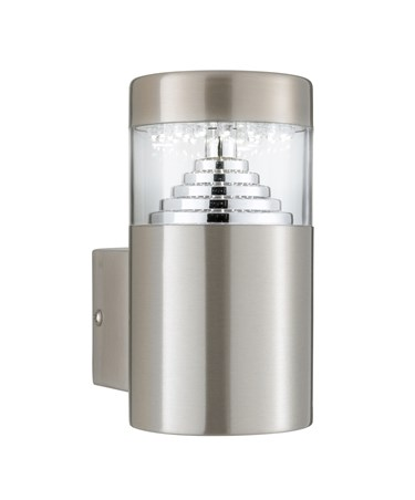 Searchlight Led Outdoor Wall Light - Stainless Steel - Sleek Cylinder - 30 Led'S