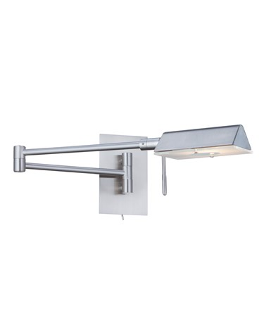 Searchlight Apothecary Wall Light - Adjustable Swing Arm - Satin Silver