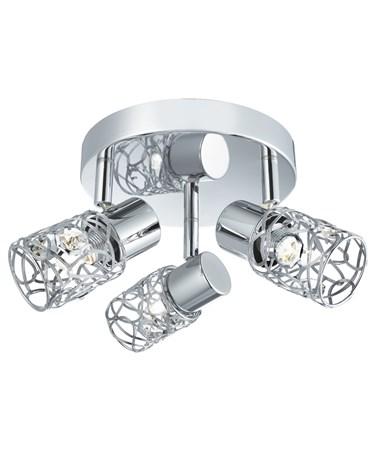 Searchlight Mesh Spot Ii - Round 3 Spotlight - Clear Glass Beads - Chrome